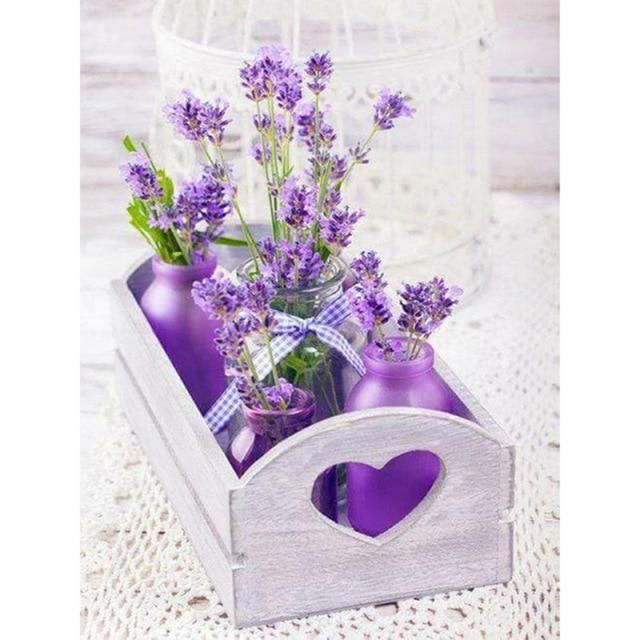 Photo of Diamond Painting Flower Display Poster – Flower Display 5 / Square Drill 15x20cm