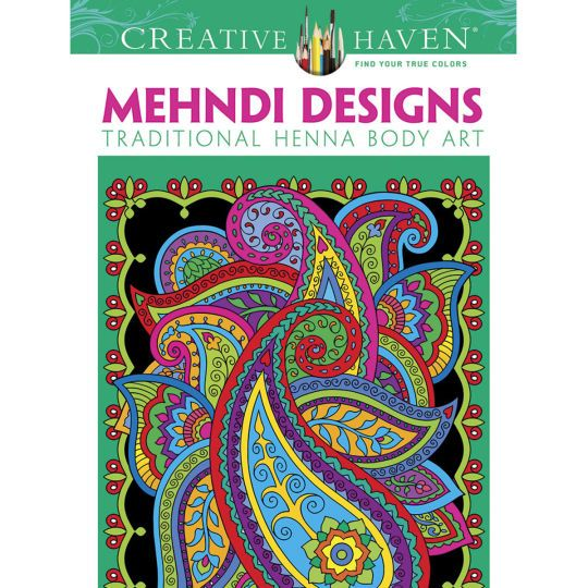 Creative Haven Mehndi Designs Coloring Book Traditional Henna