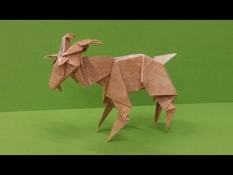 How To Make An Origami Goat Youtube Nothings Pinterest