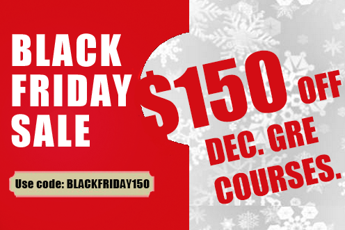 $150 off December GMAT Courses! Use code