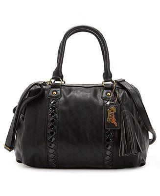 Carlos by Carlos Santana Handbag, Interlude Barrel Satchel - Satchels - Handbags & Accessories - Macy's
