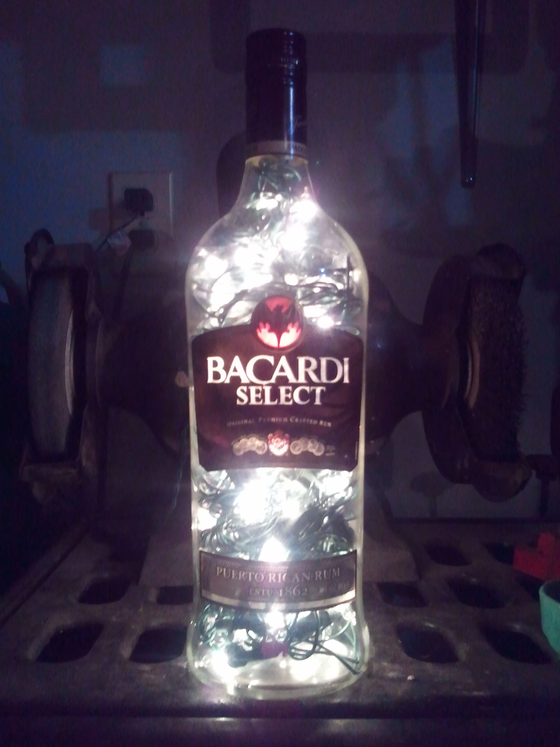 Bottle Lamp, 100 Count White Lights. Something To Do With Ericu0027s Empty Alcohol  Bottles