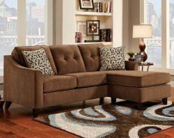 Best Elizabeth Chocolate 2 Pc Sectional Sofa American Freight 400 x 300