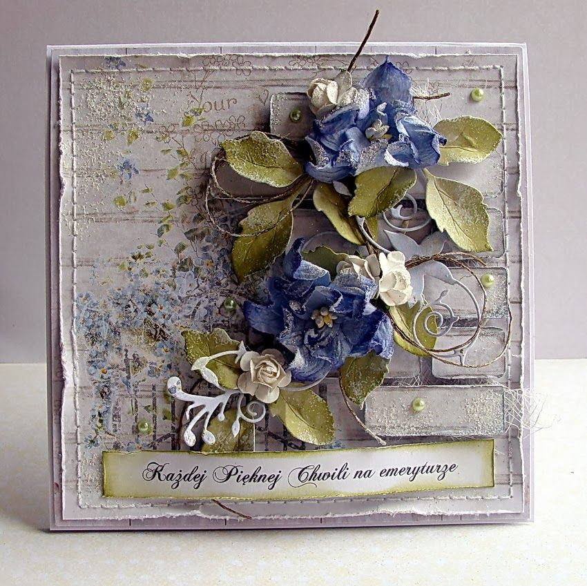 Dorota Mk Wiosenny Komplet Dla Emerytki Floral Cards Cards Handmade Beautiful Handmade Cards