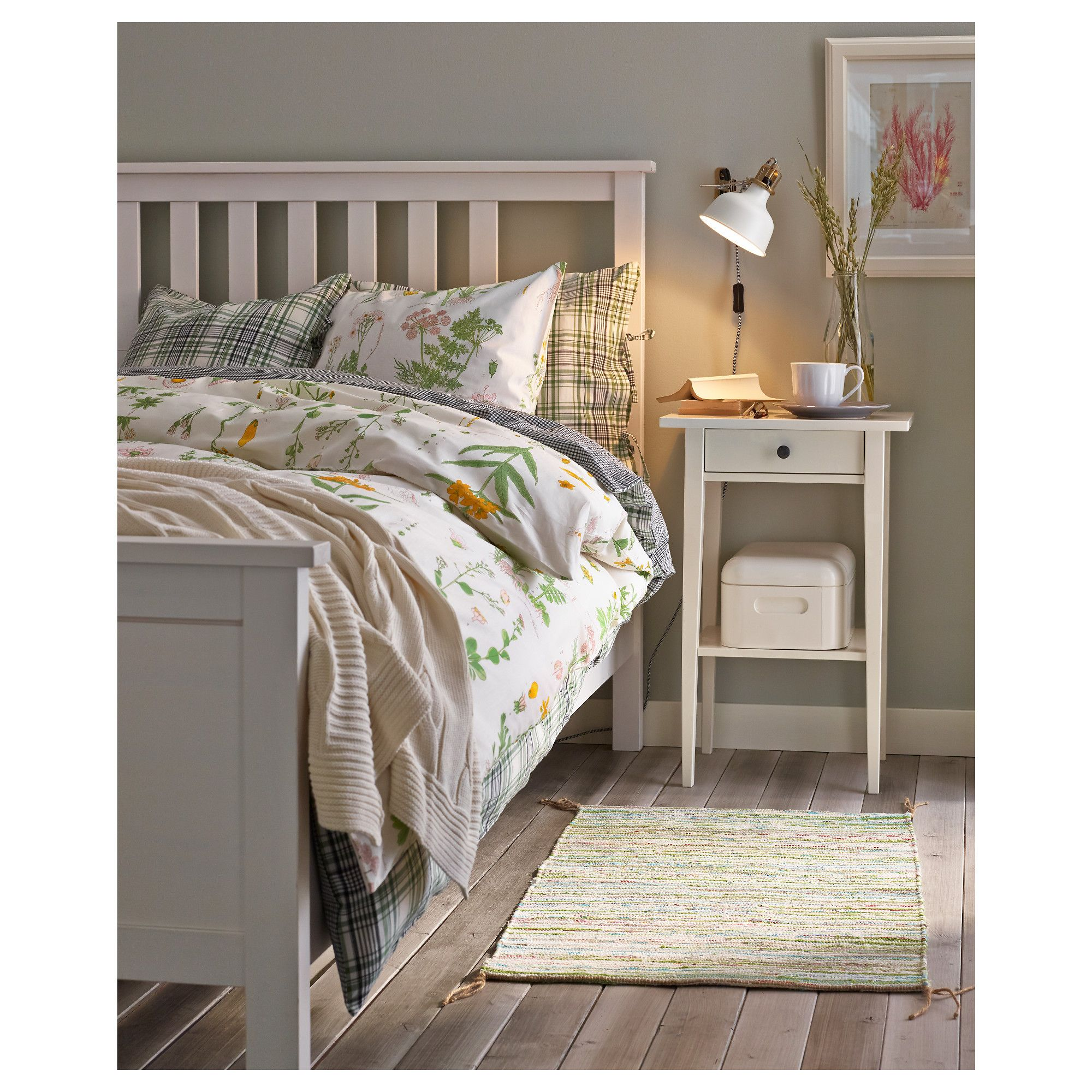Ikea Hemnes Bed Frame White Stain Eidfjord Dreamy Bedrooms