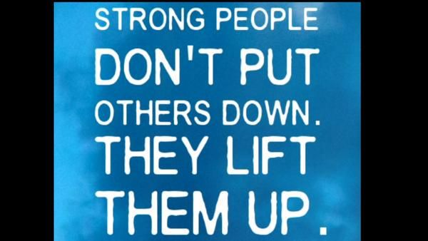Strong People Don T Put Others Down They Lift Them Up Michael P Watson Actorslife Showbiz F Strong People Quotes People Quotes Inspirational Words