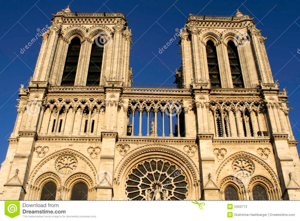 Photo About Cathedral Notre Dame Of Paris Image Of Blue Sacred Facade 5920713 Notre Dame Paris Dame