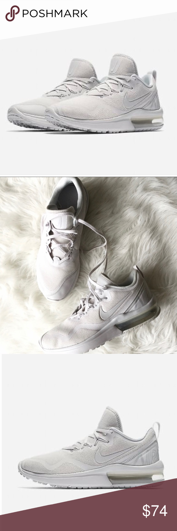 Nike Air Max Fury White Vast Grey Platinum AA5740-100 Women/'s Shoes