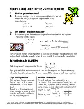 Algebra I - CliffsNotes Study Guides