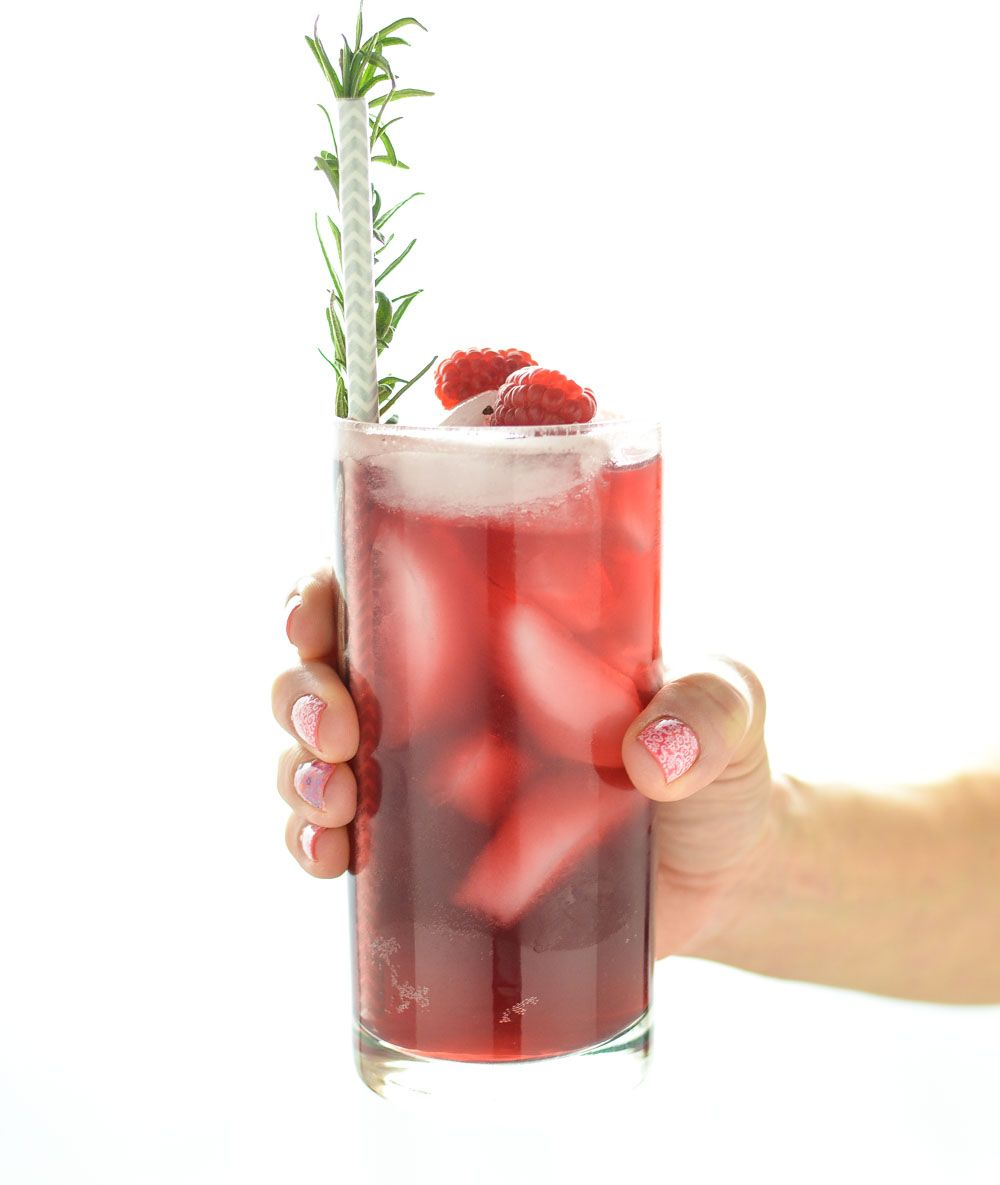 Pomegranate Champagne And Raspberry Beer Spritzers Recipe Raspberry Beer Pomegranate Flavored Sparkling Water