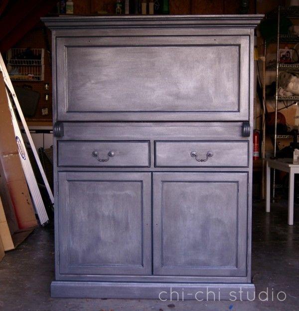 Diy Antique Zinc Finish Tutorial Studio Chalk Paint And Paint Furniture