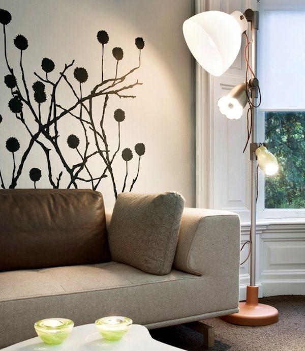 Charmant Wall Decal Modern Living Room