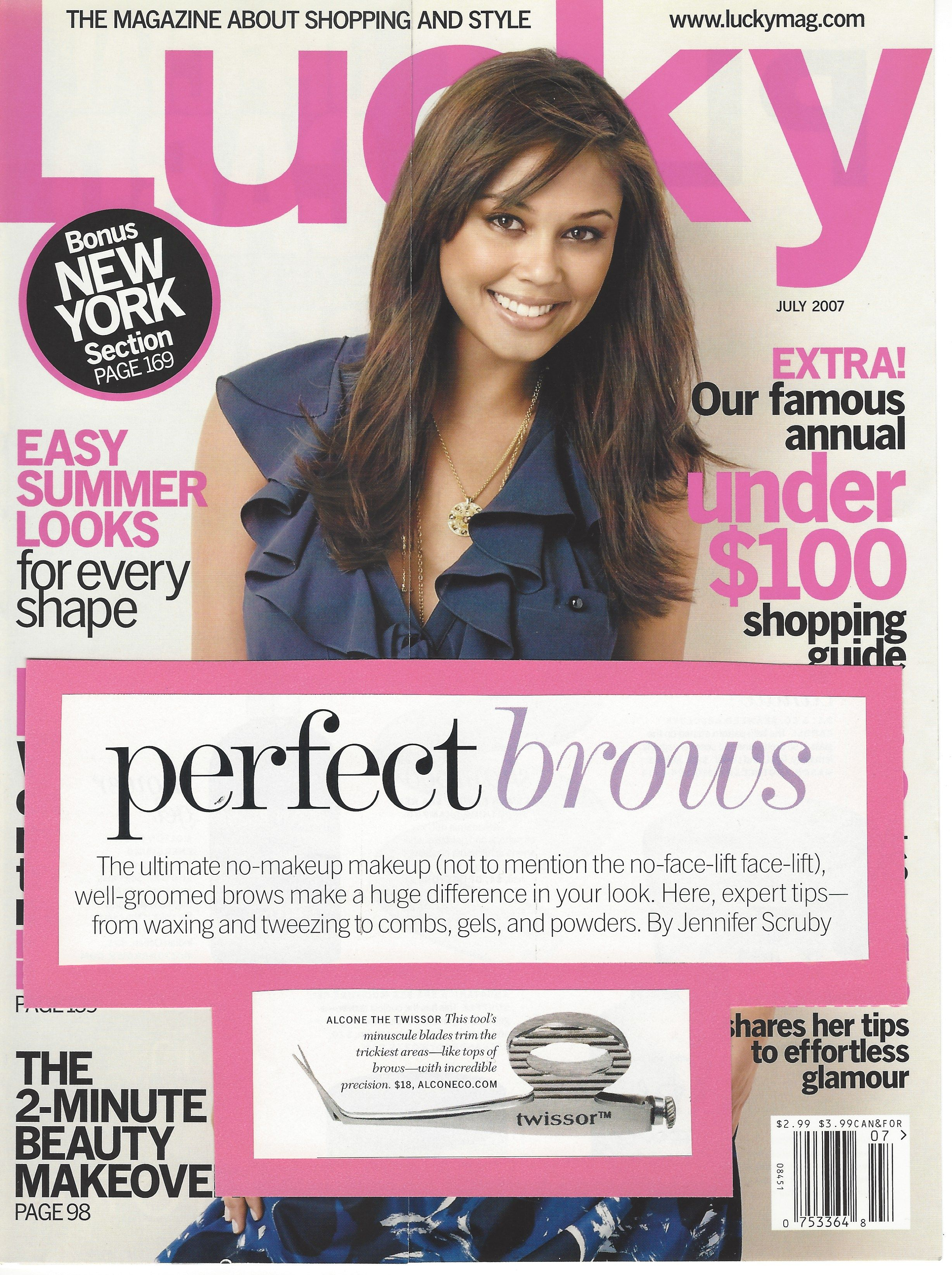 Lucky Magazine and Alcone Company Twissor Hair products