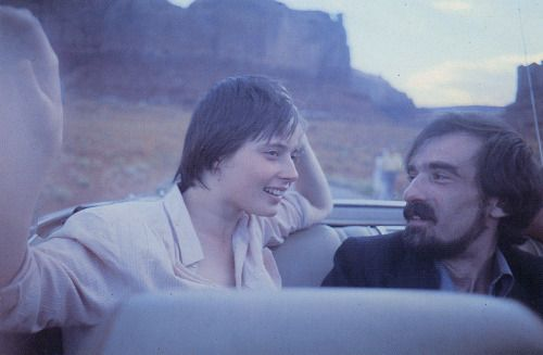 Martin Scorsese and Isabella Rossellini, Monument Valley. Photo by Wim Wenders