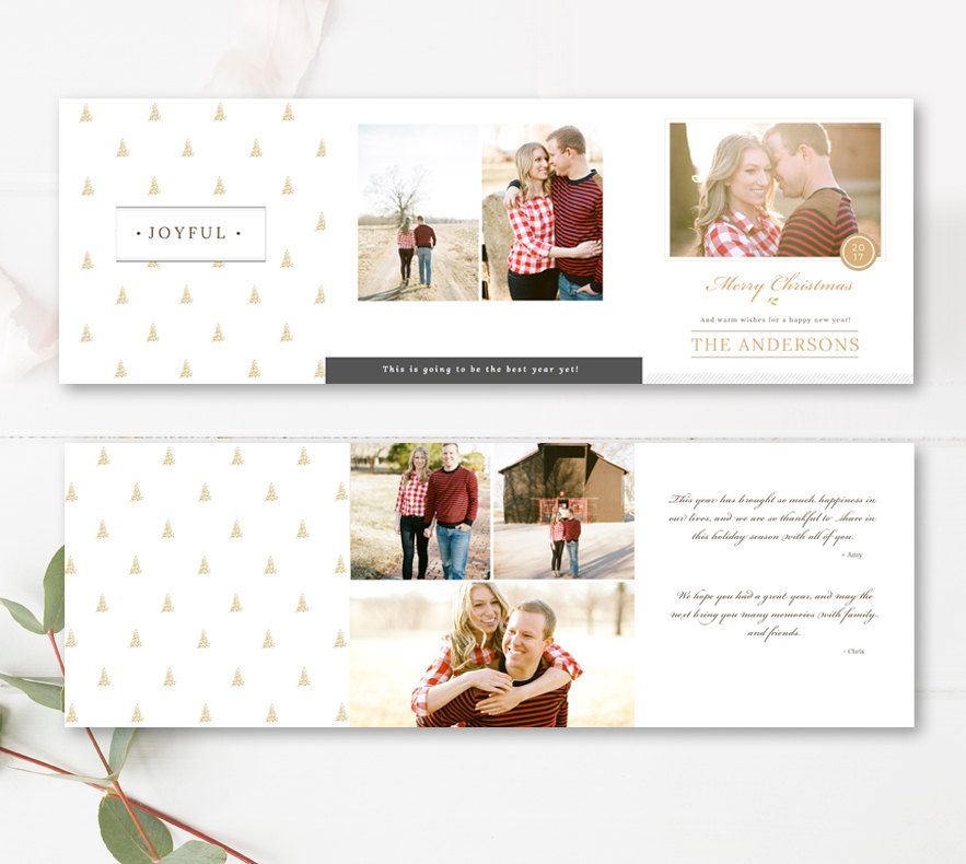 5x5 Trifold Design Holiday Photographer Templates Christmas Etsy Christmas Card Template Holiday Photo Cards Design Photoshop Christmas Card Template