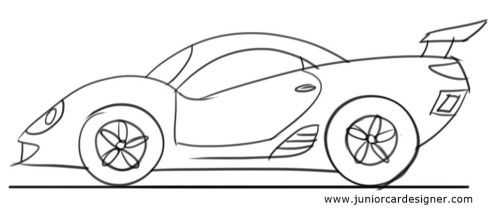how to draw a car for preschoolers