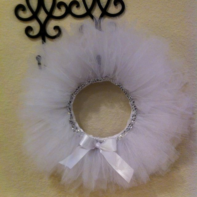 My first Tulle wreath :)