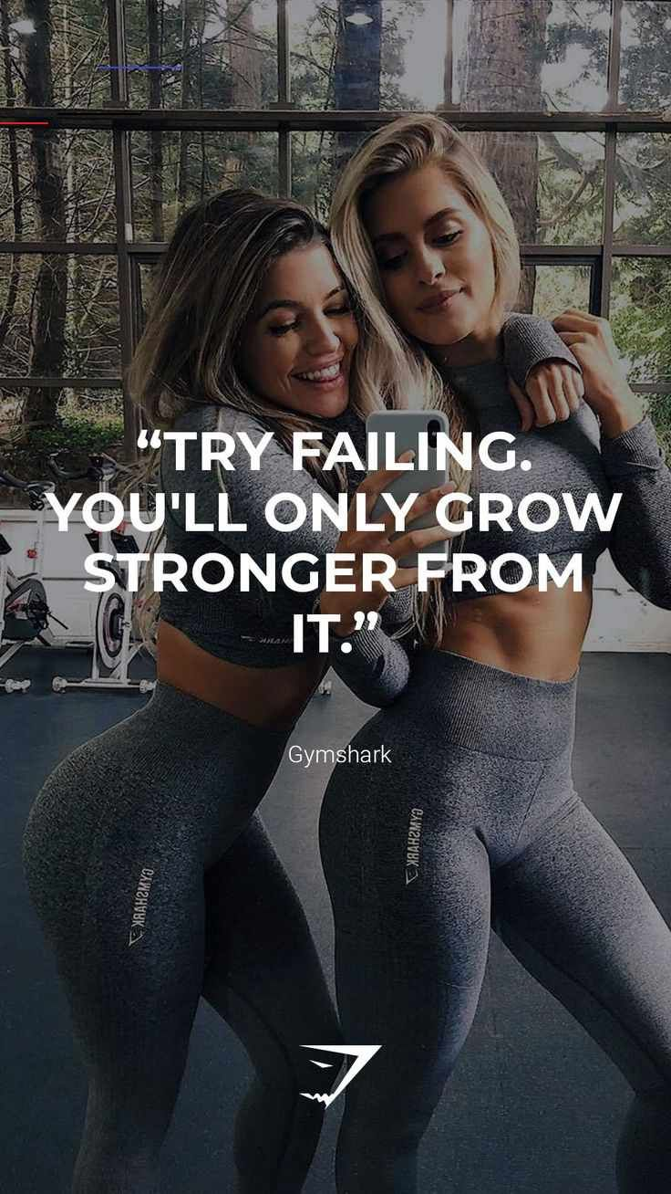 "Gymshark | Motivational Quotes ""Try failing. You'll only grow stronger from it."" - Gymshark. Save th..."