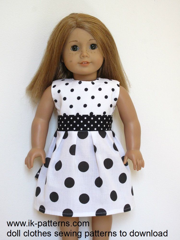 American Girl Doll clothes sewing patterns to download - DRESS ...