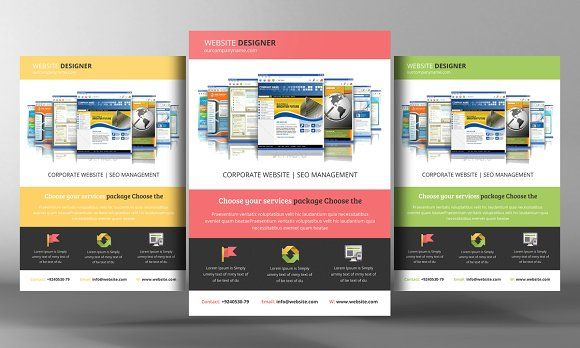 Website Design Flyer Template By Business Templates On @creativemarket