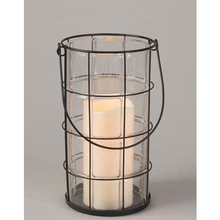 Lantern with Soft Glow Flicker LED Candle