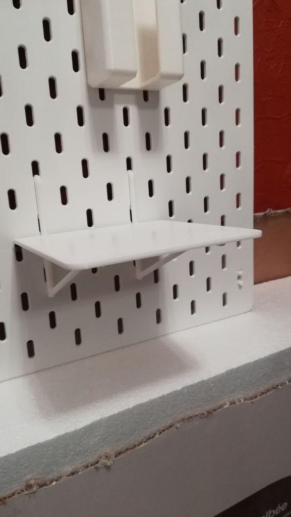 My 3d Room Design: IKEA Skadis - Tablette By Jdpp44 - Thingiverse