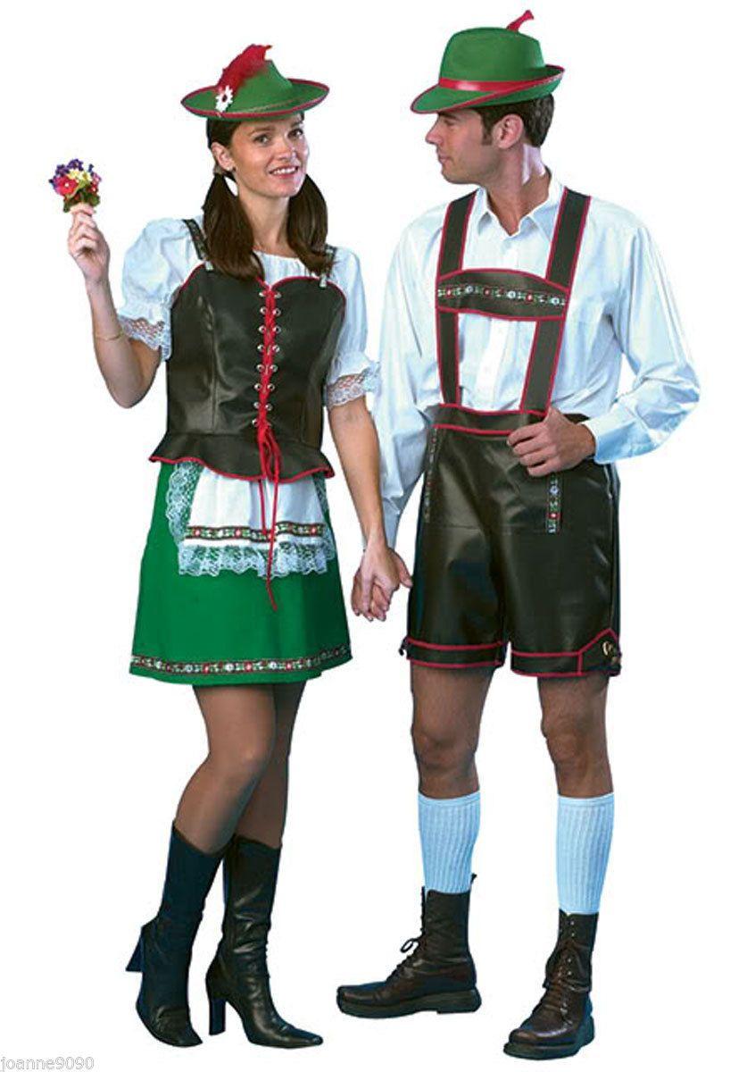 Mens Green Oktoberfest Lederhosen Bavavian Beer Fest Adult Fancy Dress Outfit