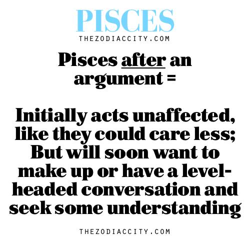 Pisces after an argument   Pisces Traits   Pisces, Pisces