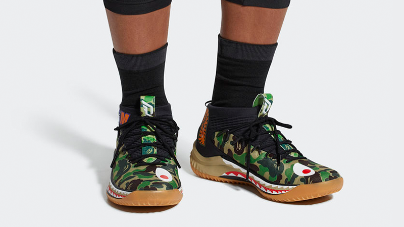 brand new 66242 4dead Adidas Dame 4 x Bape Sneakers Review