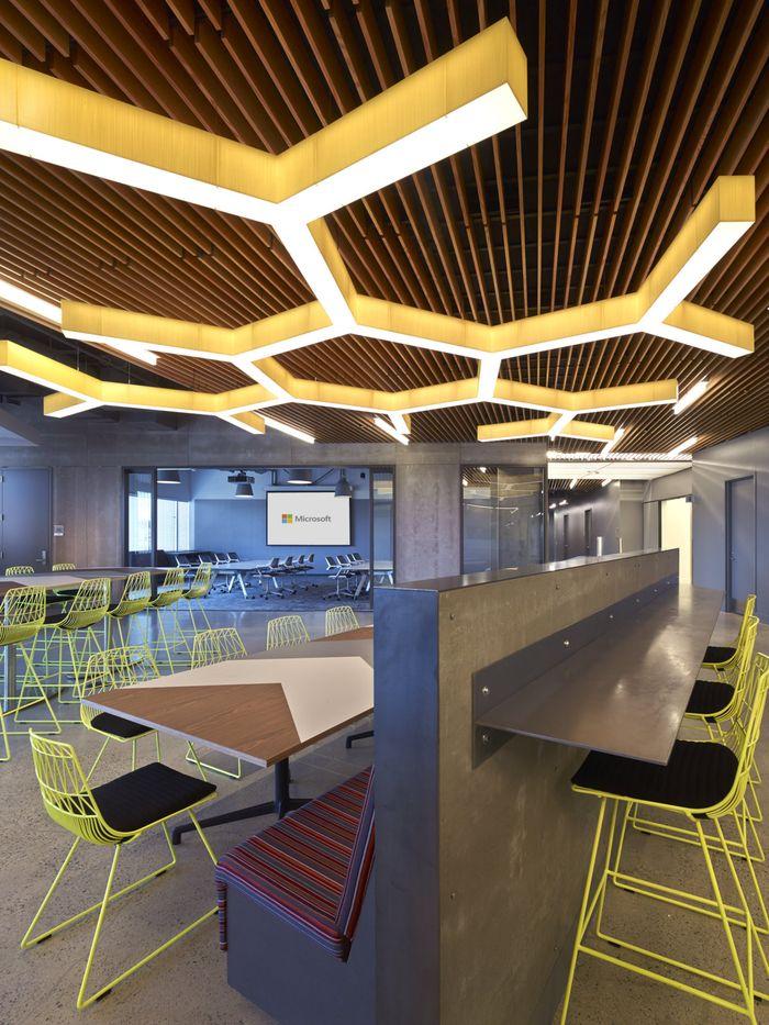 microsoft redmond office. Microsoft Studio H Offices - Redmond Office Snapshots / Honeycomb Lighting Fixture