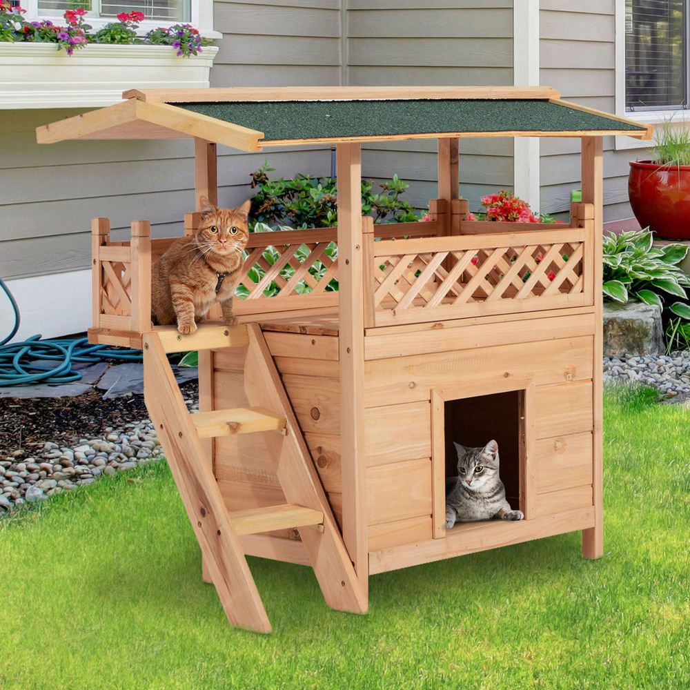 Details About Wooden Pet House Cat Room Dog Puppy Large Kennel