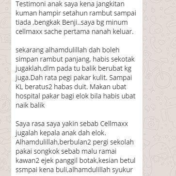 Cellmaxx Malaysia Testimoni Jangkitan Kuman Di Kepala Cellmaxx Personalized Items Malaysia Receipt