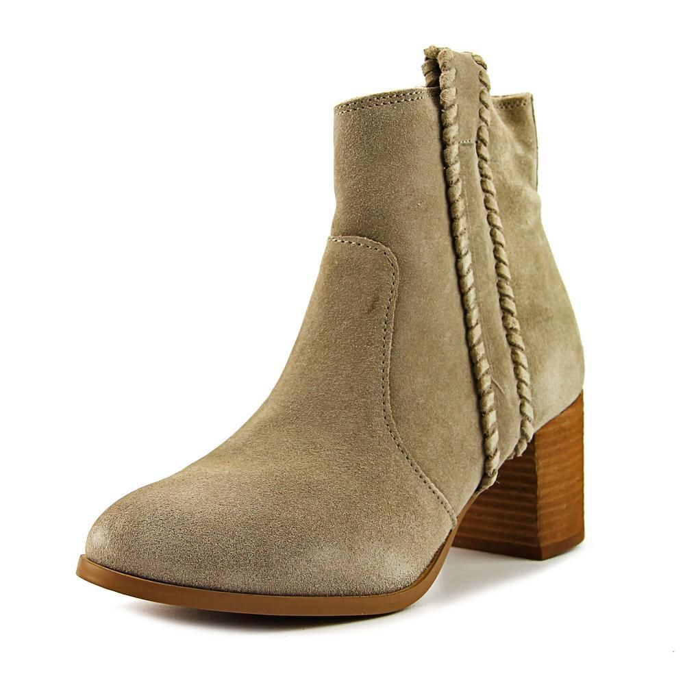 Coconuts By Matisse Tina Women Round Toe Suede Nude Bootie