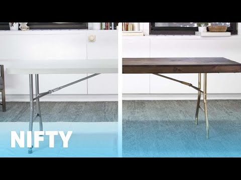 143 Folding Table Makeover Youtube Table Makeover Folding Table Thanksgiving Table Decorations