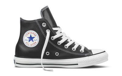 zapatillas converse piel negras hombre