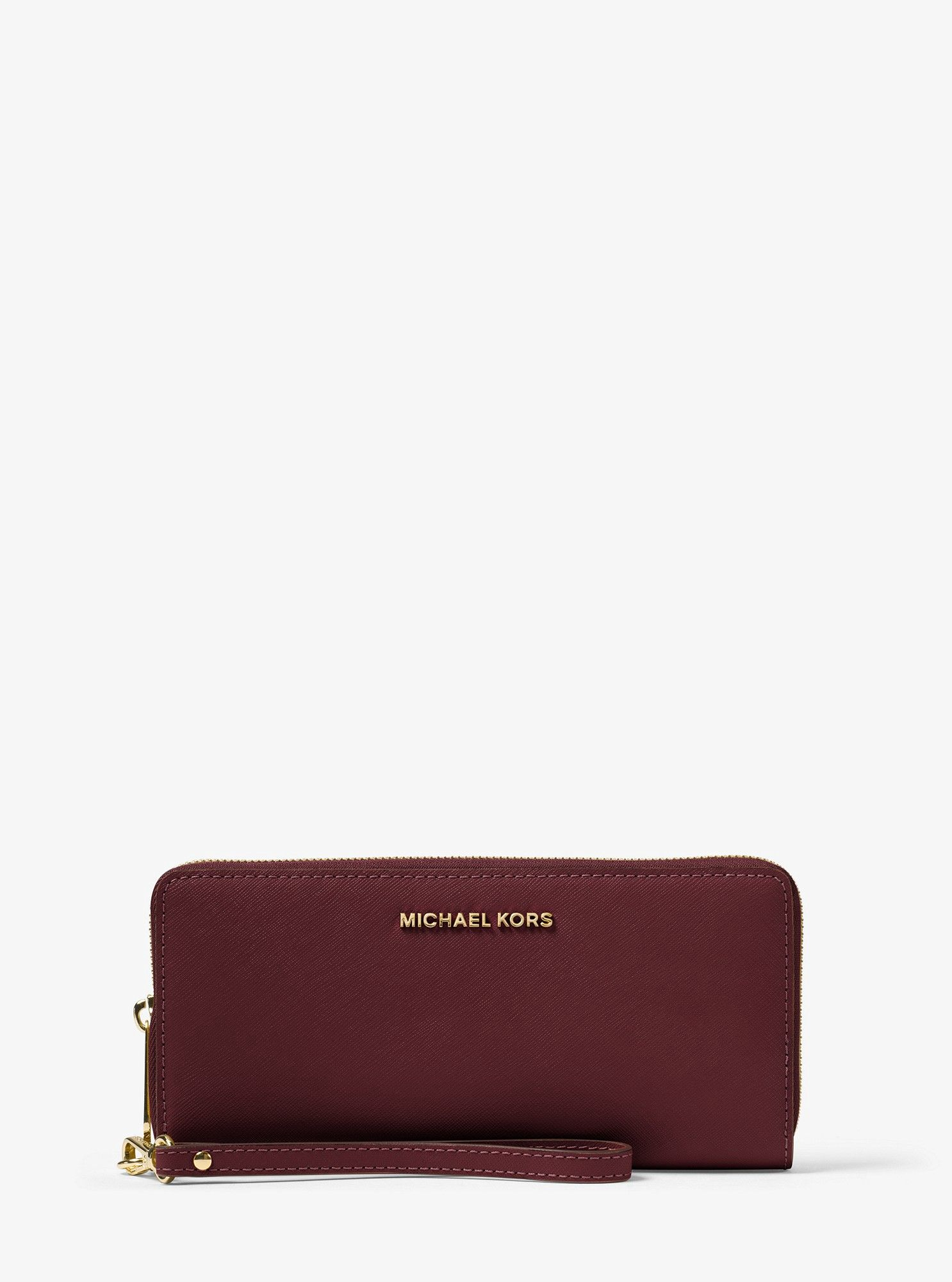 58324a102cf1 Michael Kors Jet Set Travel Leather Continental Wristlet - Admiral ...