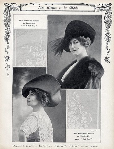 2bbf863535e Chanel (Millinery) 1912 Gabrielle Dorziat