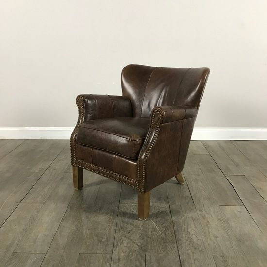 Pinned Leather Side Chair   MarketSquare Chicago