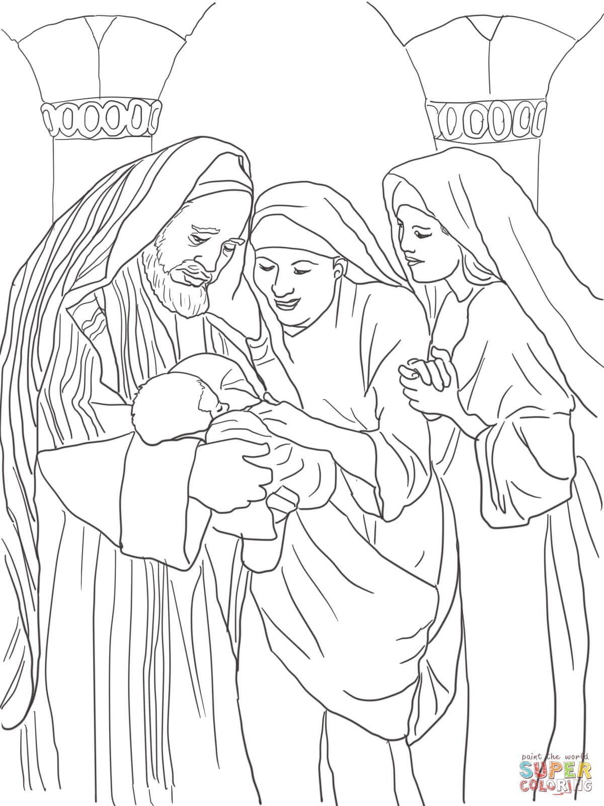 Zechariah Elizabeth And Baby John The Baptist