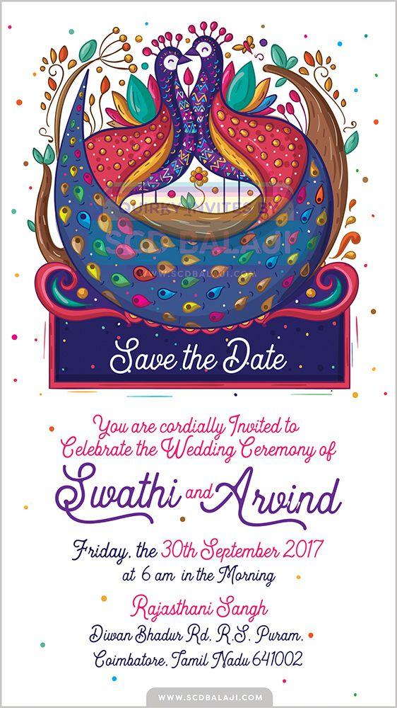 Free Ecard Einvite With Printed Cards Peacock Indian Creative Wedding Invitation Suite