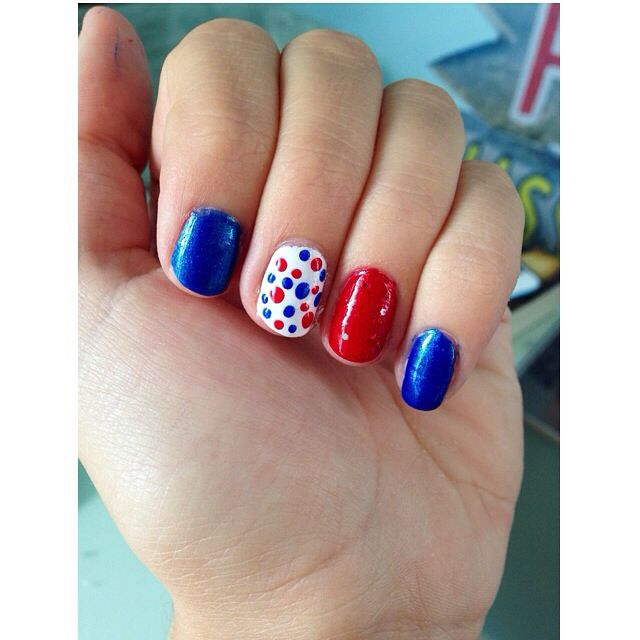 Sorry I haven't posted in a while! But here is my July 4th nails ♥️
