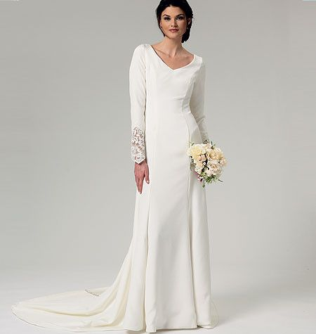 B5779 Misses\' Wedding Dress | Wedding dress, Patterns and Weddings