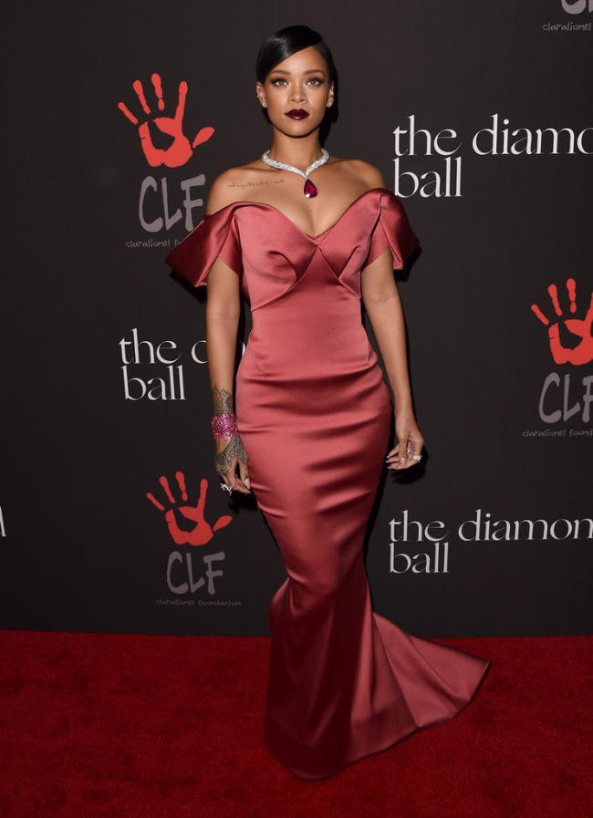 361e1b84b1c Rihanna Red Formal Dress Rihanna s 1st Annual Diamond Ball Benefit TCD5991