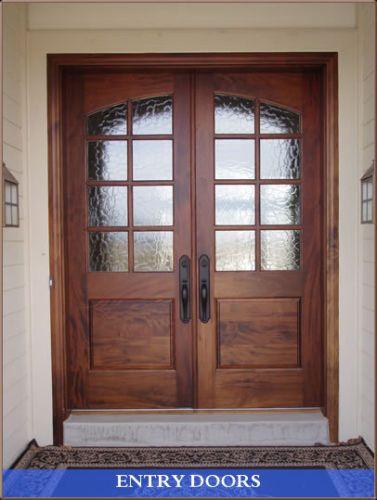6 0x8 0 Double Entry Door 8 Lite Knotty Alder Exterior Entry Doors Custom Exterior Doors Modern Exterior Doors