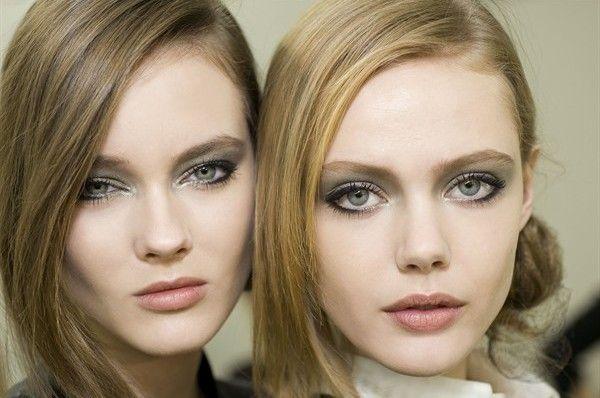 grey chanel make up light blue eyes