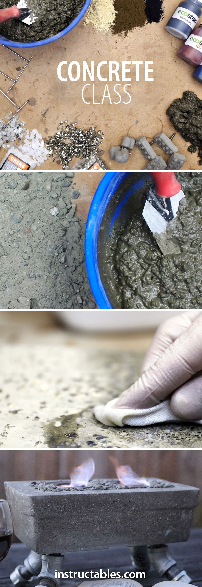 Learn many creative applications for concrete through fun, hands-on projects.