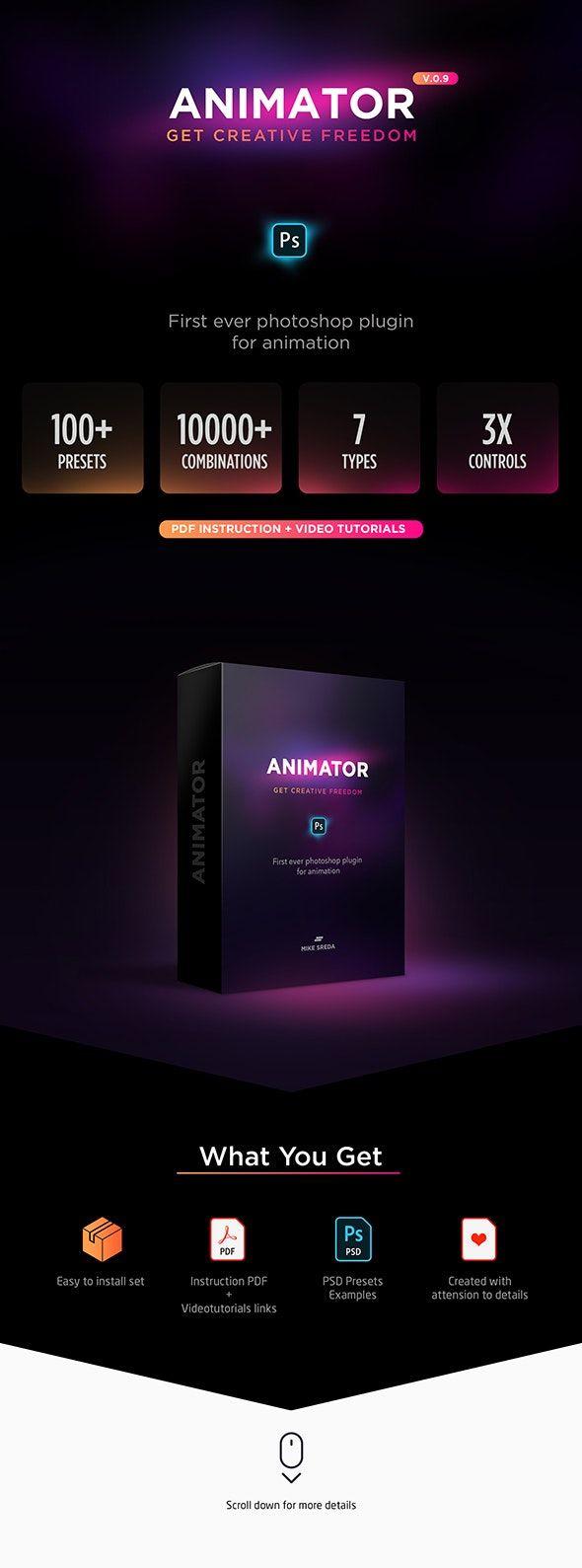 Creative Text Animator Photoshop Plugin download @graphicriver #creativeart #art #photoshop #plug-in #download #animator #text #webdesign #graphicdesign