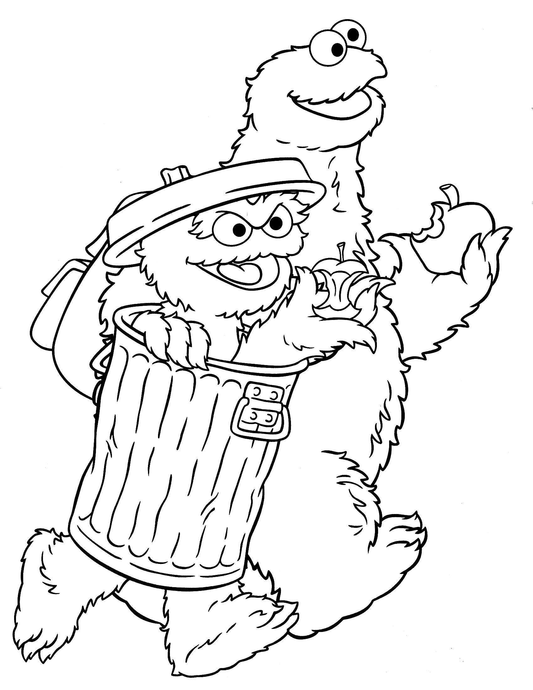 sesame street coloring pages - Bing Images | Coloring Pages for Kids ...