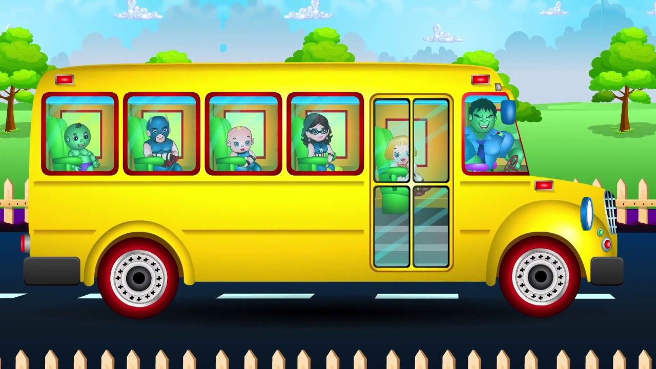 Wheels On The Bus Go Round And Round Nursery Rhymes Kids Songs