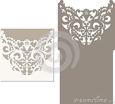 Laser Cut Invitation Card. Laser Cutting Pattern For Invitation